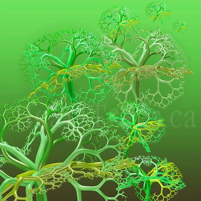fractal art roundflowergreen clipped